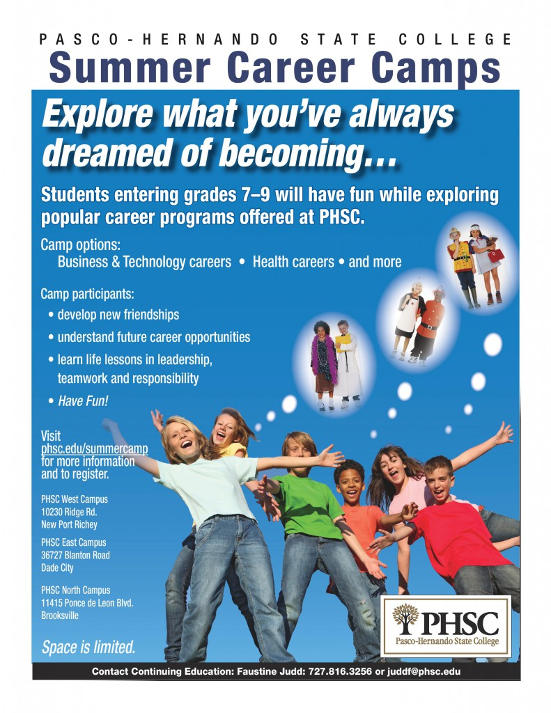 PHSC_Summer_Career Camp-flyer 2014-page-001