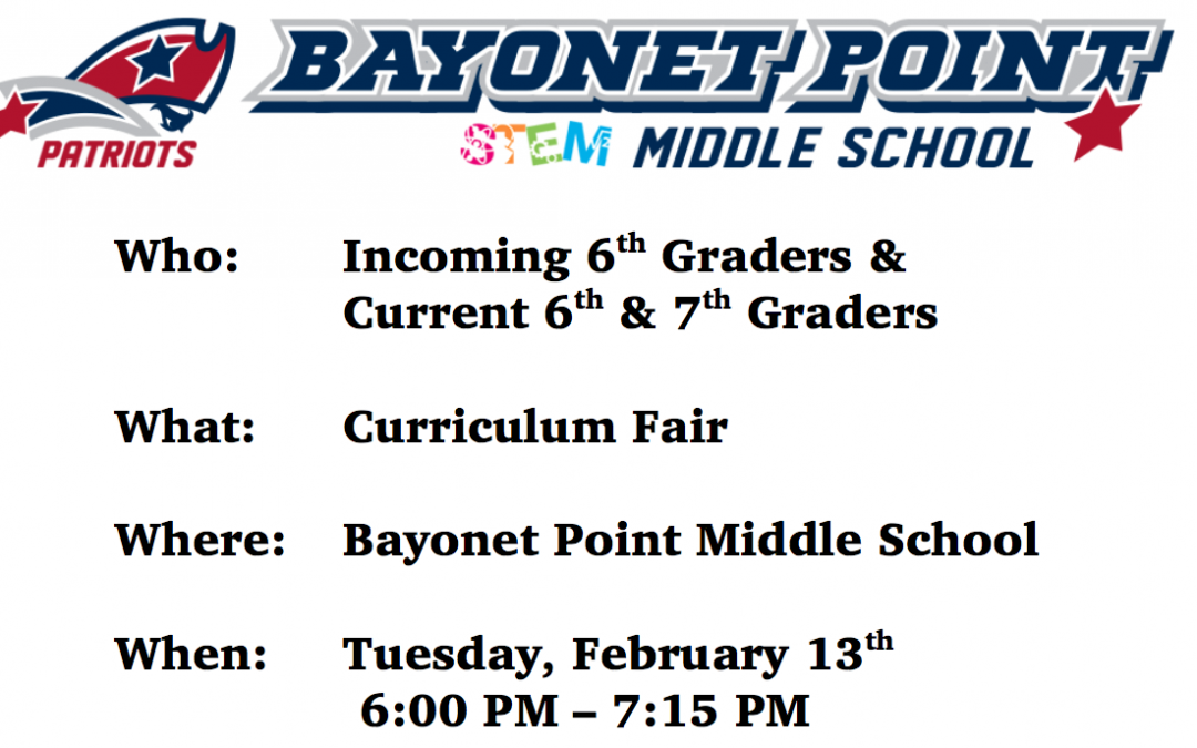 BPMS Curriculum Fair