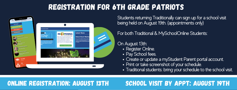 Online Registration for all students